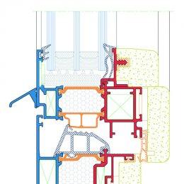Fenêtres en bois d'aluminium esquisser, MCA inženiring