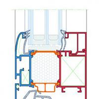 Profils 85 mm PVC esquisser, MCA inženiring