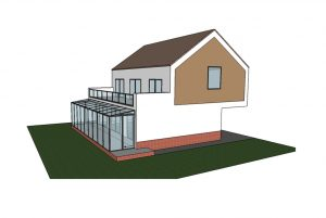 Dessin en 3D gratuit, jardin d'hiver, MCA inženiring